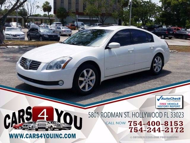 2004 Nissan Maxima for sale at Cars 4 You in Hollywood FL