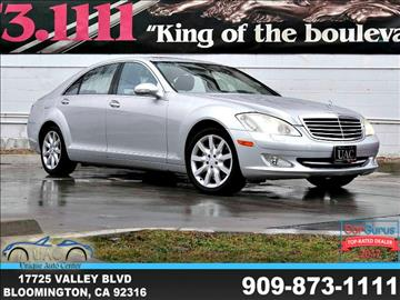 2007 Mercedes-Benz S-Class for sale in Bloomington, CA