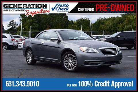 2012 Chrysler 200 Convertible for sale in Bohemia, NY