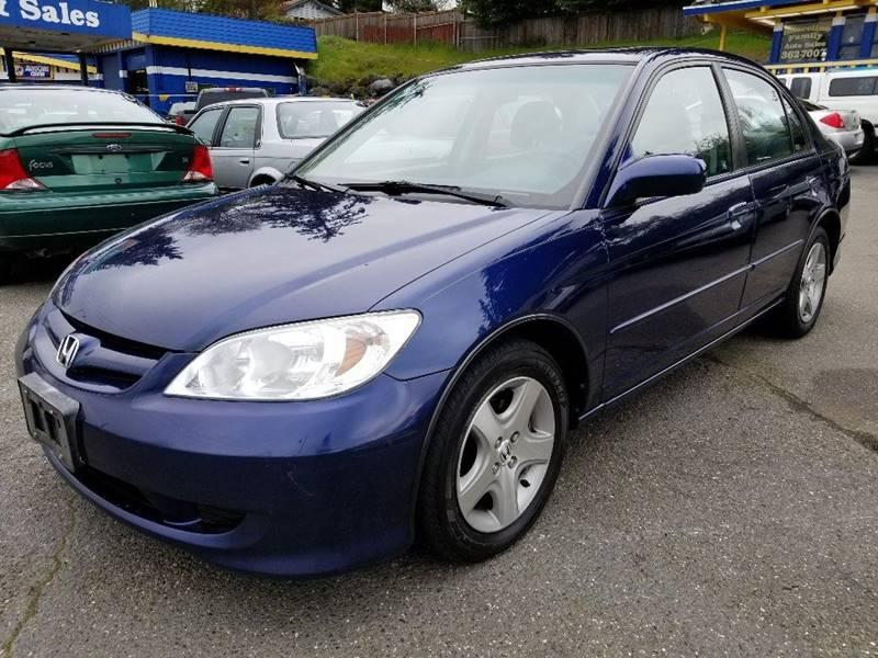 2005 Honda Civic for sale at Shoreline Family Auto Care And Sales in Shoreline WA