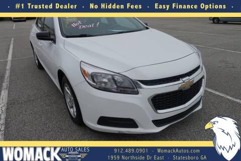 2015 Chevrolet Malibu for sale at Womack Auto Sales in Statesboro GA