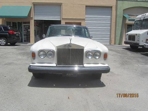 1976 Rolls-Royce Silver Shadow for sale at ADVANCE AUTOMALL in Doral FL