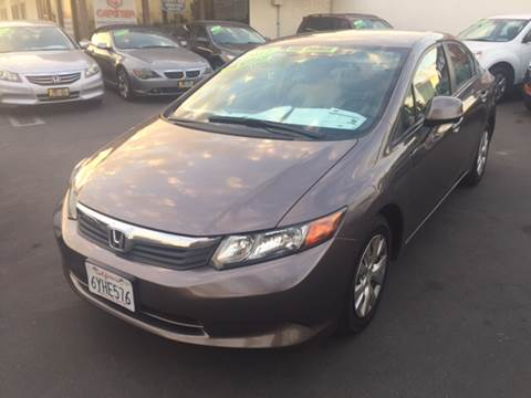 2012 Honda Civic for sale at CARSTER in Huntington Beach CA