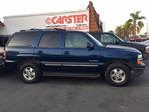 2002 Chevrolet Tahoe for sale at CARSTER in Huntington Beach CA