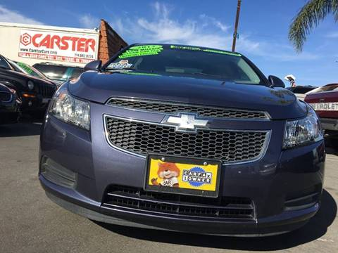 2013 Chevrolet Cruze for sale at CARSTER in Huntington Beach CA