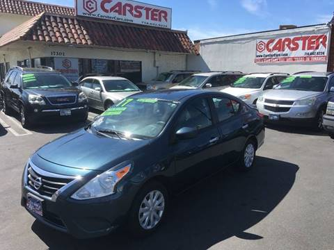 2017 Nissan Versa for sale at CARSTER in Huntington Beach CA