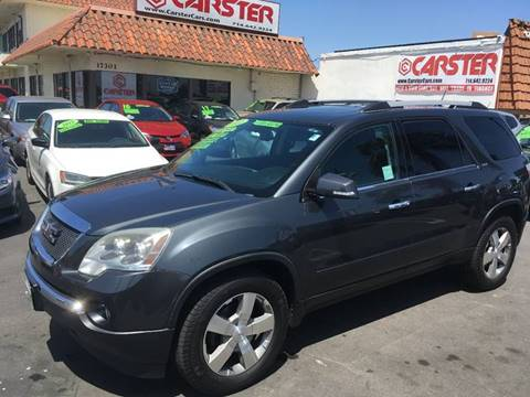 2011 GMC Acadia for sale at CARSTER in Huntington Beach CA