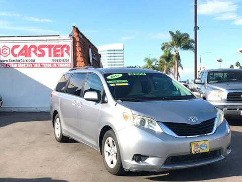 2011 Toyota Sienna for sale at CARSTER in Huntington Beach CA