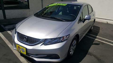 2013 Honda Civic for sale at CARSTER in Huntington Beach CA