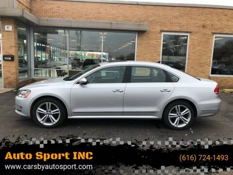 2012 Volkswagen Passat for sale at Auto Sport INC in Grand Rapids MI