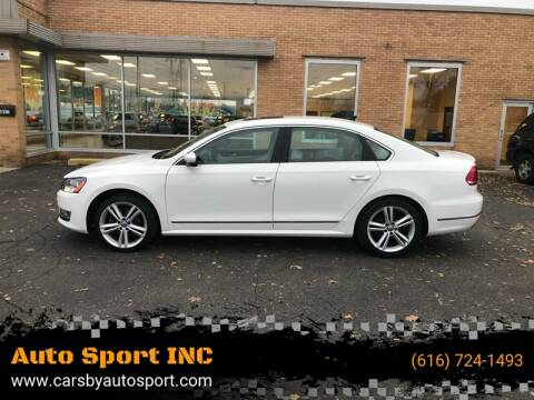 2014 Volkswagen Passat for sale at Auto Sport INC in Grand Rapids MI