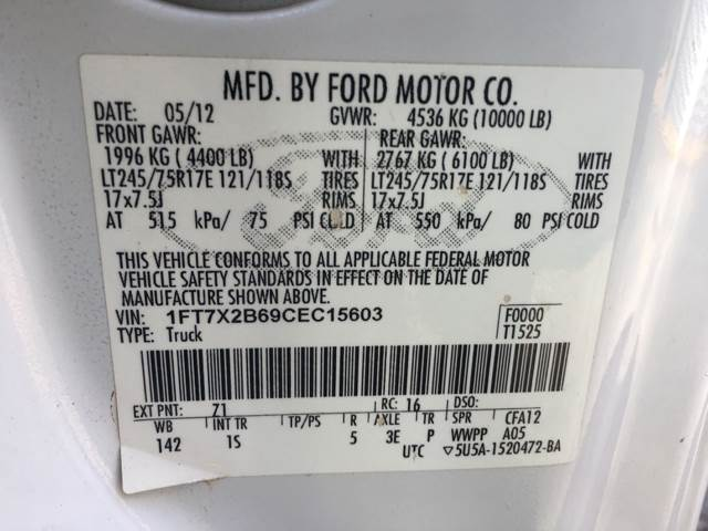 2012 Ford F-250 Super Duty 4x4 XLT 4dr SuperCab 6.8 ft. SB Pickup - Acworth GA