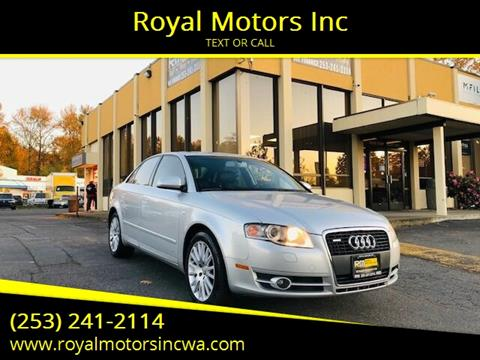 2005 Audi A4 for sale at Royal Motors Inc in Kent WA