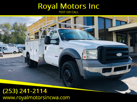 2005 Ford F-450 Super Duty for sale at Royal Motors Inc in Kent WA