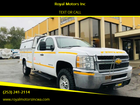 2013 Chevrolet Silverado 2500HD for sale at Royal Motors Inc in Kent WA