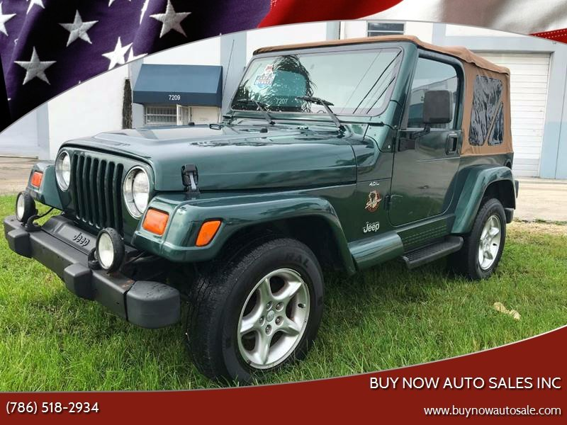 2000 Jeep Wrangler For Sale At BUY NOW AUTO SALES INC In Miami FL