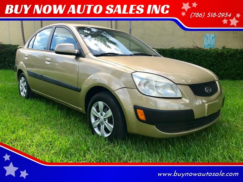 2008 Kia Rio For Sale At BUY NOW AUTO SALES INC In Miami FL