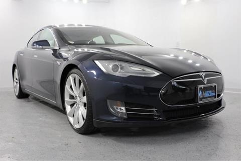 2013 Tesla Model S for sale at AUTO HOLDING in Hillside NJ