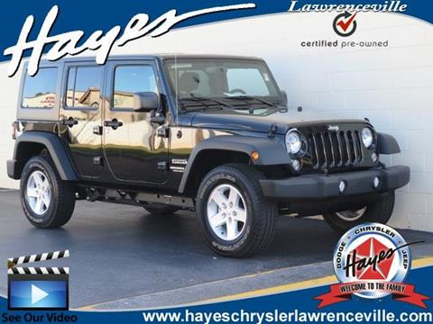 2017 Jeep Wrangler Unlimited for sale in Lawrenceville, GA