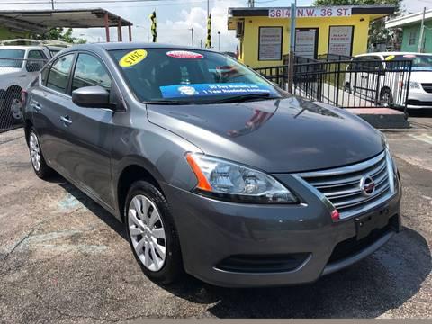 2015 Nissan Sentra for sale at MIAMI AUTO LIQUIDATORS in Miami FL