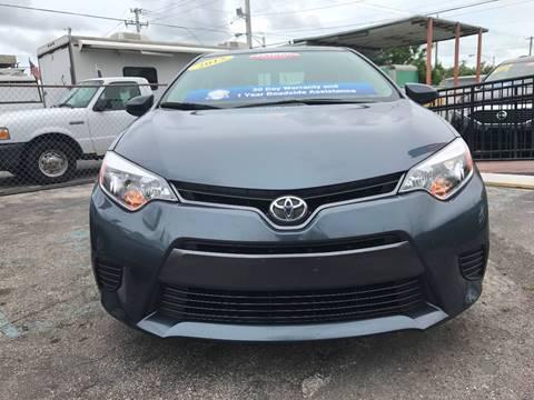 2016 Toyota Corolla for sale at MIAMI AUTO LIQUIDATORS in Miami FL