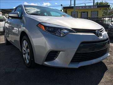 2015 Toyota Corolla for sale at MIAMI AUTO LIQUIDATORS in Miami FL