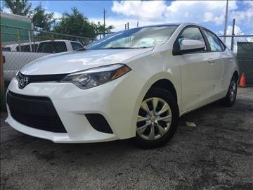 2014 Toyota Corolla for sale at MIAMI AUTO LIQUIDATORS in Miami FL