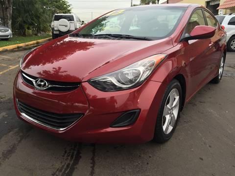 2013 Hyundai Elantra for sale at MIAMI AUTO LIQUIDATORS in Miami FL