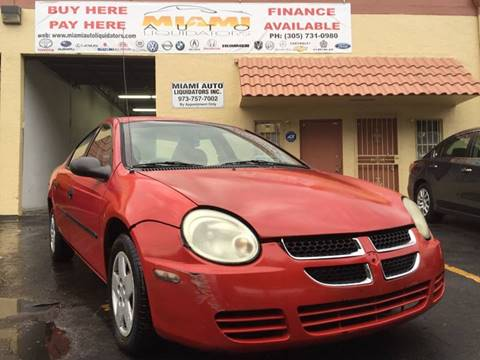 2003 Dodge Neon for sale at MIAMI AUTO LIQUIDATORS in Miami FL
