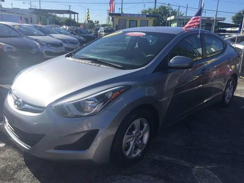 2015 Hyundai Elantra for sale at MIAMI AUTO LIQUIDATORS in Miami FL