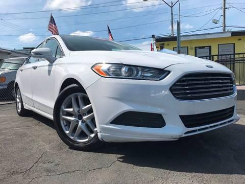 2016 Ford Fusion for sale at MIAMI AUTO LIQUIDATORS in Miami FL