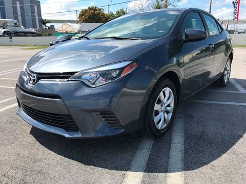 2016 Toyota Corolla for sale at MIAMI AUTO LIQUIDATORS in Miami FL