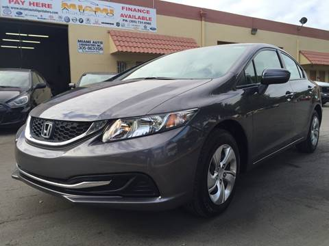 2014 Honda Civic for sale at MIAMI AUTO LIQUIDATORS in Miami FL