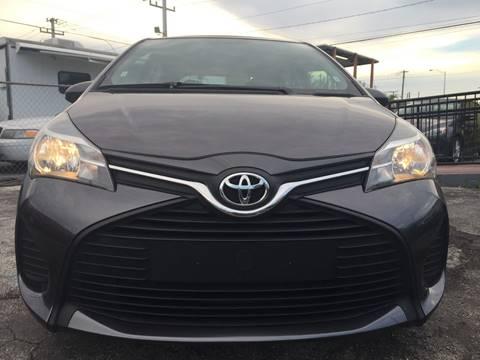 2015 Toyota Yaris for sale at MIAMI AUTO LIQUIDATORS in Miami FL