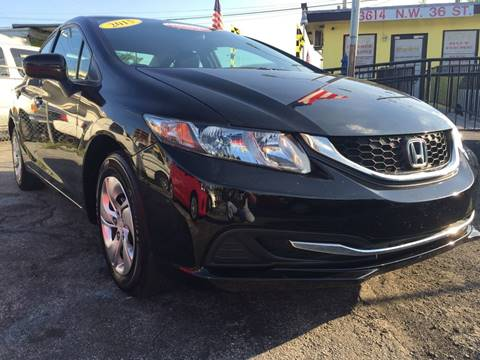 2015 Honda Civic for sale at MIAMI AUTO LIQUIDATORS in Miami FL