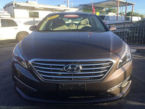 2015 Hyundai Sonata for sale at MIAMI AUTO LIQUIDATORS in Miami FL