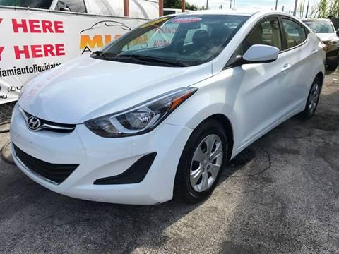 2016 Hyundai Elantra for sale at MIAMI AUTO LIQUIDATORS in Miami FL