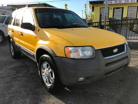 2001 Ford Escape for sale at MIAMI AUTO LIQUIDATORS in Miami FL