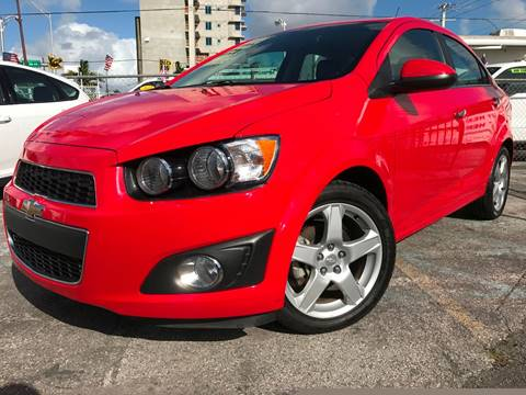 2015 Chevrolet Sonic for sale at MIAMI AUTO LIQUIDATORS in Miami FL