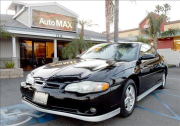 2001 Chevrolet Monte Carlo for sale in Norco, CA