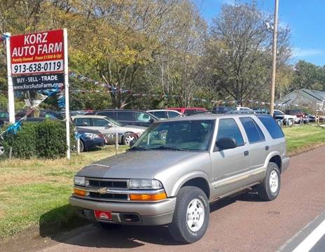 2002 Chevrolet Blazer for sale in Kansas City, KS