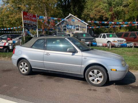 2002 Volkswagen Cabrio for sale at Korz Auto Farm in Kansas City KS