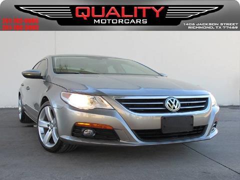 2012 Volkswagen CC for sale in Richmond, TX