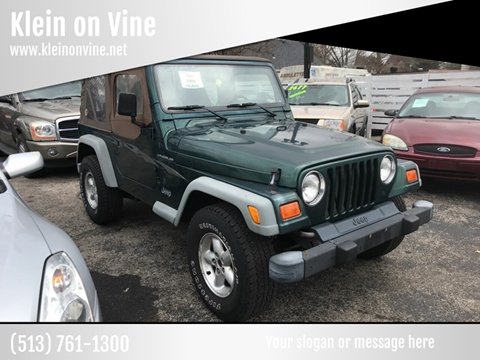 2000 Jeep Wrangler for sale at Klein on Vine in Cincinnati OH