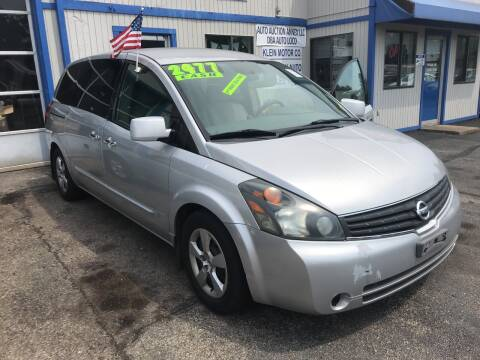 2008 Nissan Quest for sale at Klein on Vine in Cincinnati OH