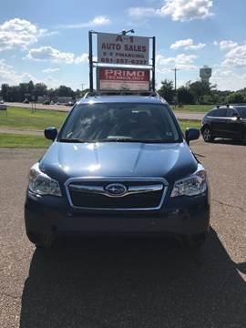 2014 Subaru Forester for sale at A1 Auto Sales in Chisago City MN