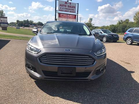 2014 Ford Fusion for sale at A1 Auto Sales in Chisago City MN