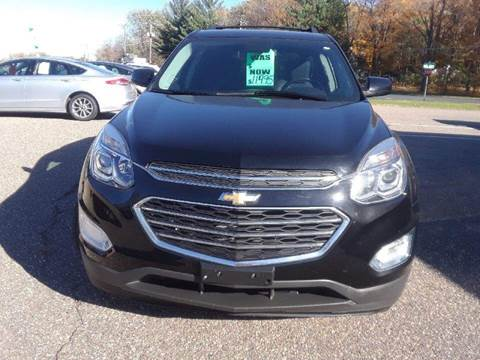 2016 Chevrolet Equinox for sale at A1 Auto Sales in Chisago City MN