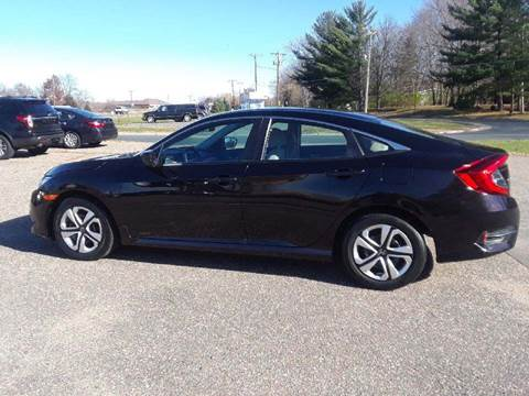 2016 Honda Civic for sale at A1 Auto Sales in Chisago City MN