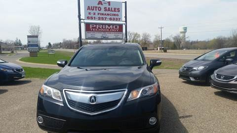 2015 Acura RDX for sale at A1 Auto Sales in Chisago City MN
